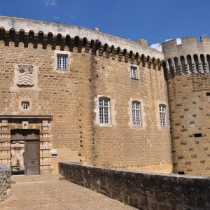 Entrance of the castle of Suze La Rousse