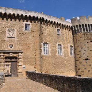 Entrance of the castle of Suze La Rousse