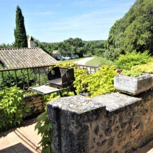 Vue depuis la terrasse des Chênes Verts