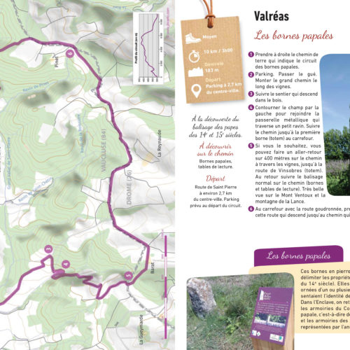 circuit des bornes papales de Valréas