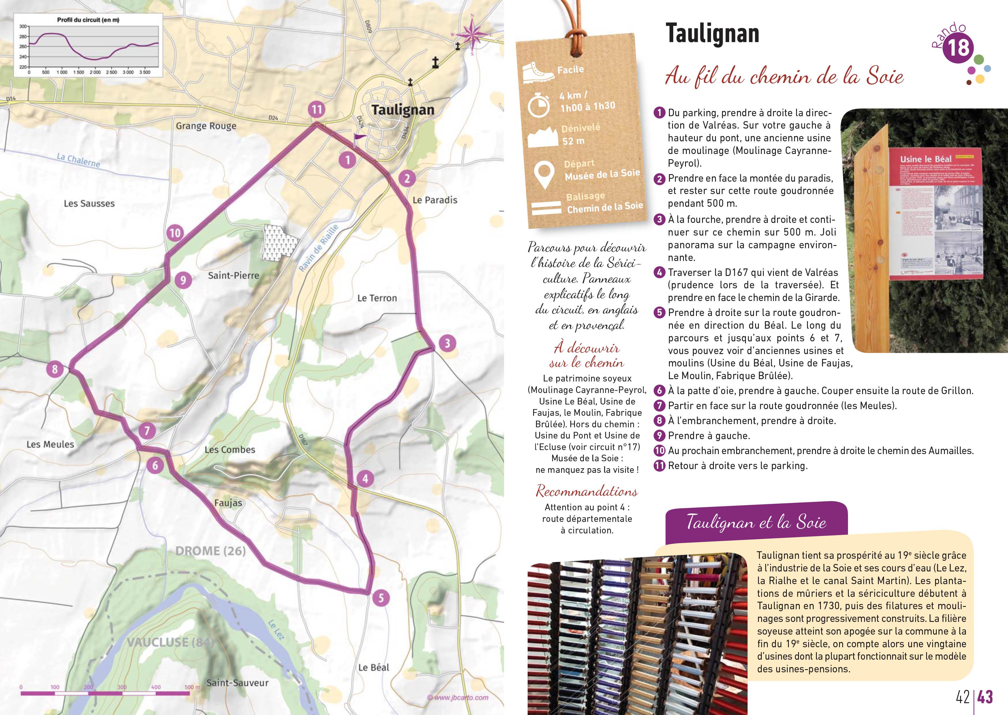 circuit de la soie à Taulignan